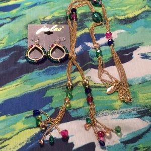 Jules Necklace and Earrings Set